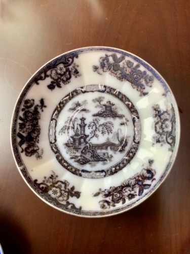 "Challinor 멀베리 트랜스퍼 ""Pelew"" 페턴 볼 Challinor Mulberry Transfer ""Pelew"" Pattern Bowl circa 1890"