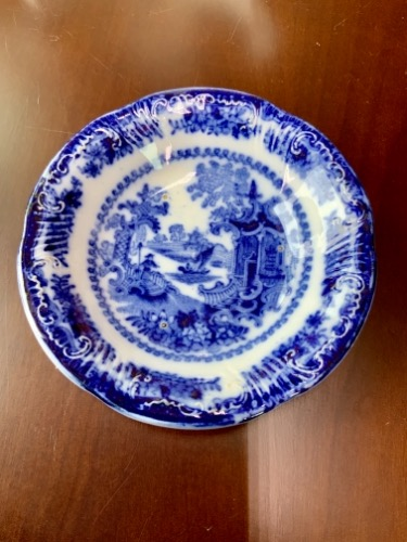 "Adams 플로우 블루 ""Fairy Villas"" 페턴 스몰 볼  Adams Flow Blue ""Fairy Villas"" Small Bowl circa 1900"